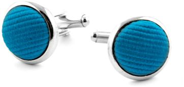 Silk Cufflinks Ocean Blue F32