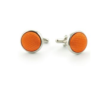 Silk Cufflinks Orange F01