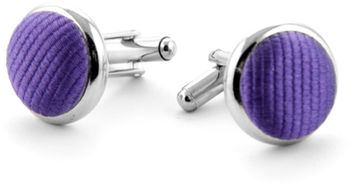Silk Cufflinks Purple F30