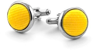 Silk Cufflinks Yellow F70