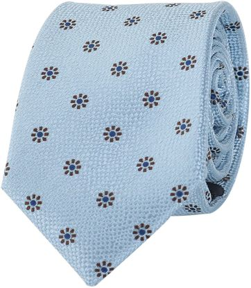 Silk Tie Blue Flower
