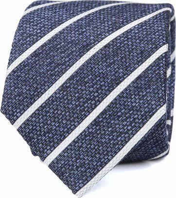 Silk Tie Blue White Stripe K82-2