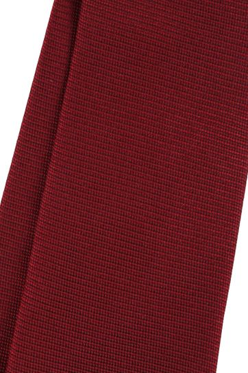 Silk Tie Bordeaux Red