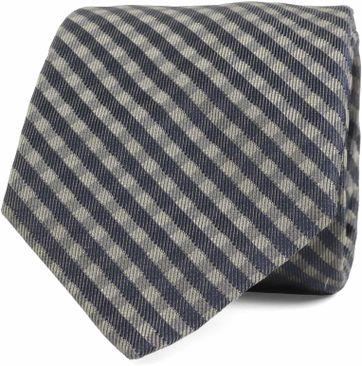Silk Tie Check Green