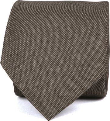 Silk Tie Dark Brown K82-1