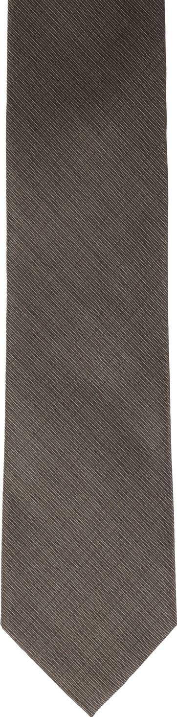 Silk Tie Dark Brown K82-1