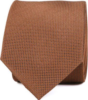 Silk Tie Dessin Cognac