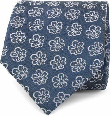 Silk Tie Flower Indigo