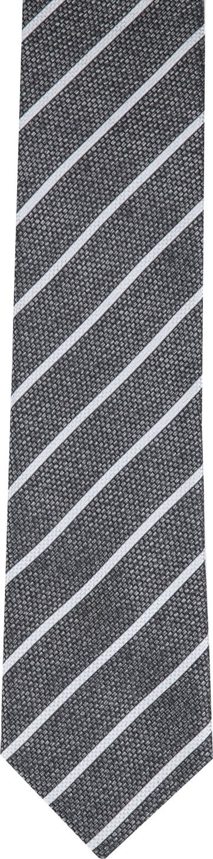 Silk Tie Grey White Stripe K82-1