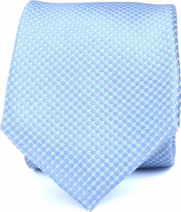 Silk Tie Light Blue Checks