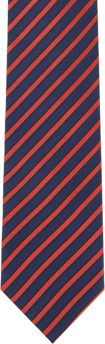 Silk Tie Navy Red Stripe F82-1