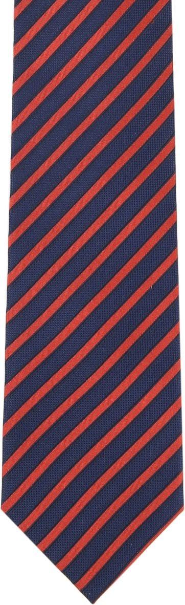 Silk Tie Navy Red Stripe F82-1