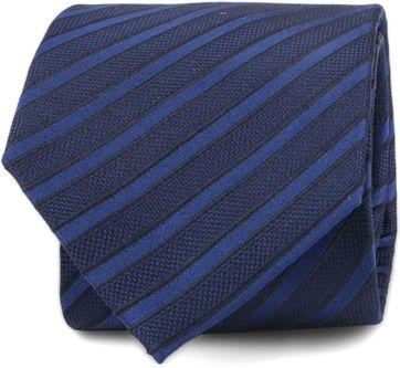 Silk Tie Navy Stripe F82-2