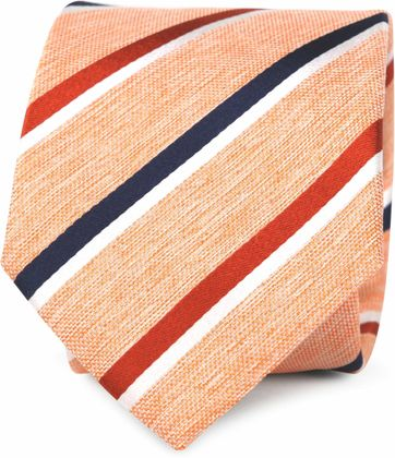 Silk Tie Orange Stripes