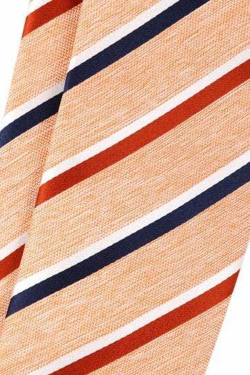Silk Tie Orange Stripes