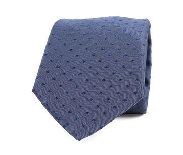 Silk Tie Pinpoint Dark Blue