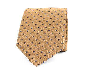 Silk Tie Pinpoint Yellow