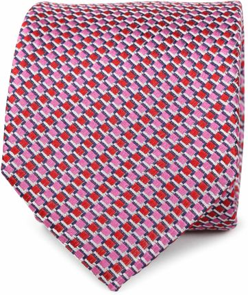 Silk Tie Red Motif K81-13