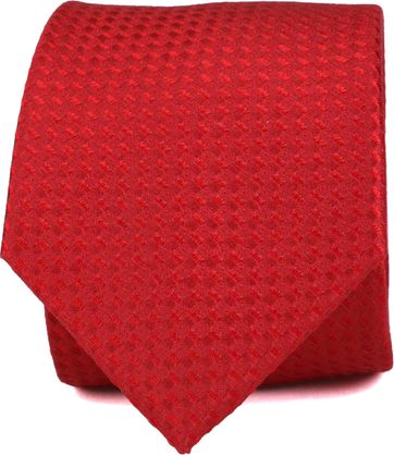 Silk Tie Red Pattern K82-12