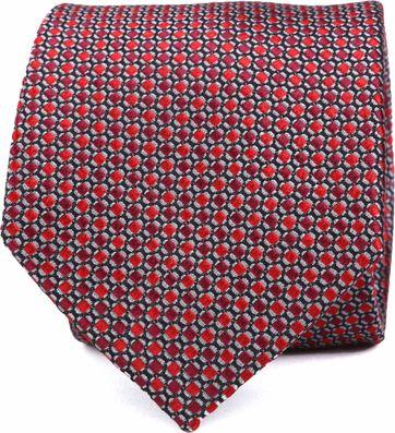 Silk Tie Red Pattern K82-9