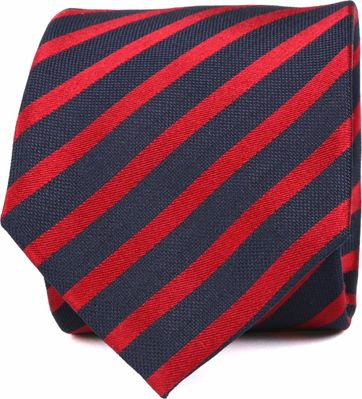 Silk Tie Red Stripe K82-18