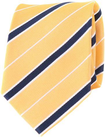 Silk Tie Yellow Stripes
