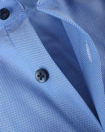 Skinny Fit Hemd Oxford Blauw 132