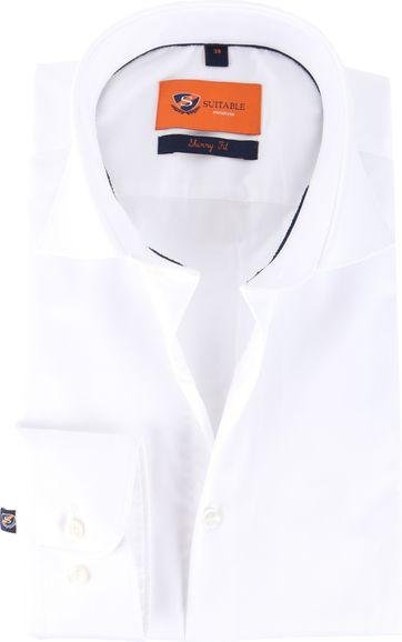 Skinny Fit Hemd Weiß 132-1
