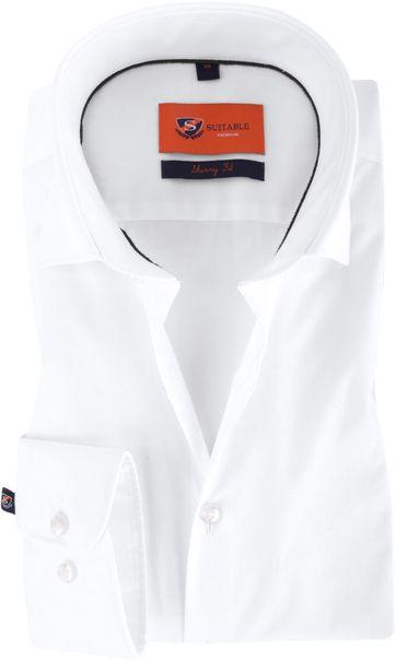 Skinny Fit Hemd Weiß