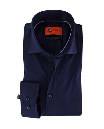 Skinny Fit Overhemd Donkerblauw