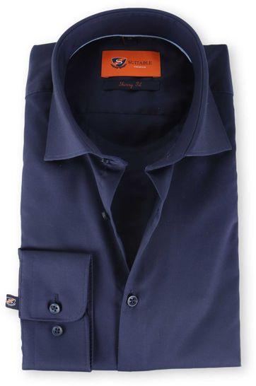 Skinny Fit Overhemd Donkerblauw 132-4