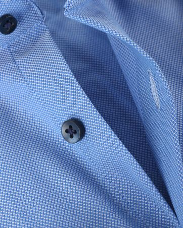 Skinny Fit Overhemd Oxford Blauw 132-3