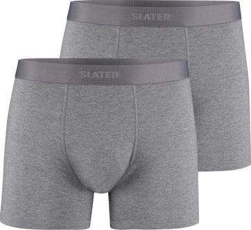Slater 2-Pack Bamboo Boxershorts Grau