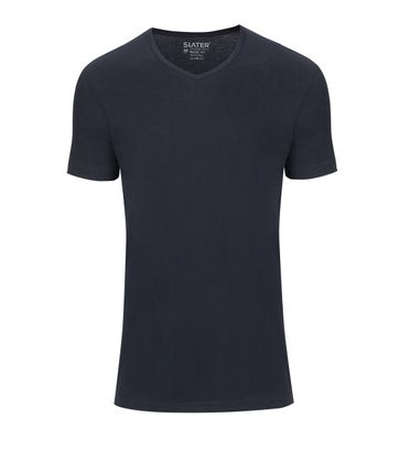 Slater 2-pack Basic Fit T-shirt V-hals Navy