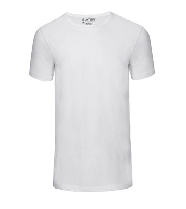 Slater 2-pack Basic Fit T-shirt Wit