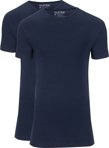 Slater 2-pack Stretch T-shirt Navy