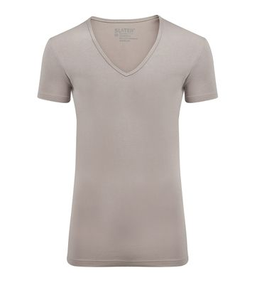 Slater 2-pack Stretch T-shirt V-hals Huidskleur