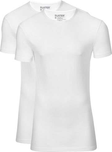 Slater 2-pack Stretch T-shirt White