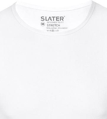 Slater 2-pack Stretch T-shirt Wit