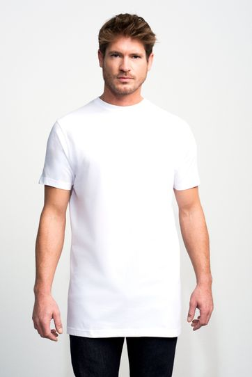 Slater 2-pack T-shirt Extra Lang Wit
