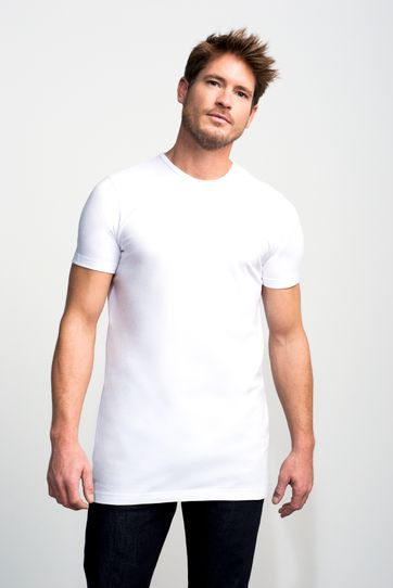 Slater 2-pack T-shirt Extra Long R-Neck White
