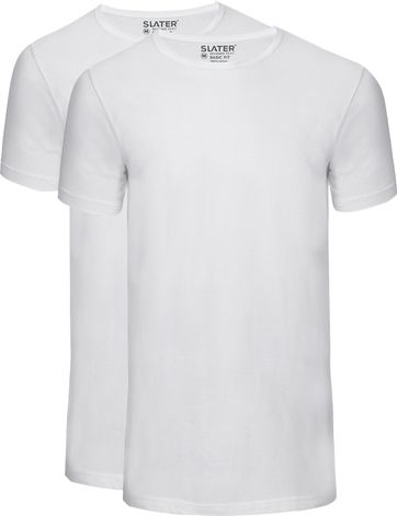 Slater 2er-Pack Basic Fit T-shirt Weiß