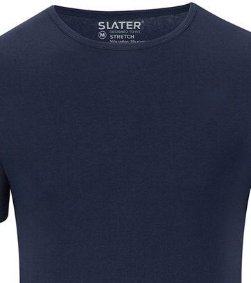 Slater 2er-Pack Stretch T-shirt Dunkelblau