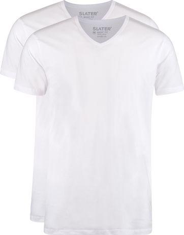 Slater 2er-Pack T-shirt V-Ausschnitt Weiß
