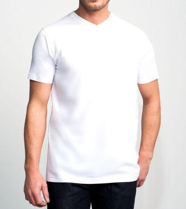 Slater 2er-Pack T-shirt V-neck Weiß