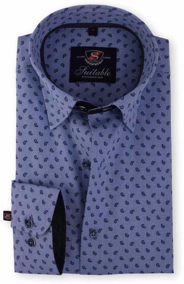 Slim Fit Overhemd.Slim Fit Overhemd Blue Drops 116 4 116 4 Hbd Jacq Drops Blue