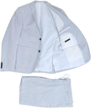 Striped Bermuda Suit Pants
