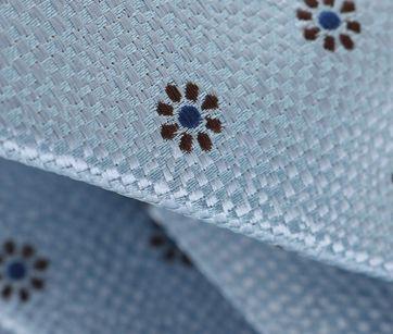 Detail Stropdas Blauwe Bloem