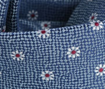 Detail Stropdas Donkerblauwe Bloem