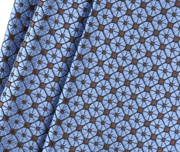 Detail Stropdas Zijde Dessin Blauw 9-17